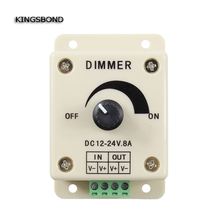 Buy High DC12-24V 8A led Light Dimmer Bright Brightness Adjustable Controller Single Color controller for $6.20 in AliExpress store
