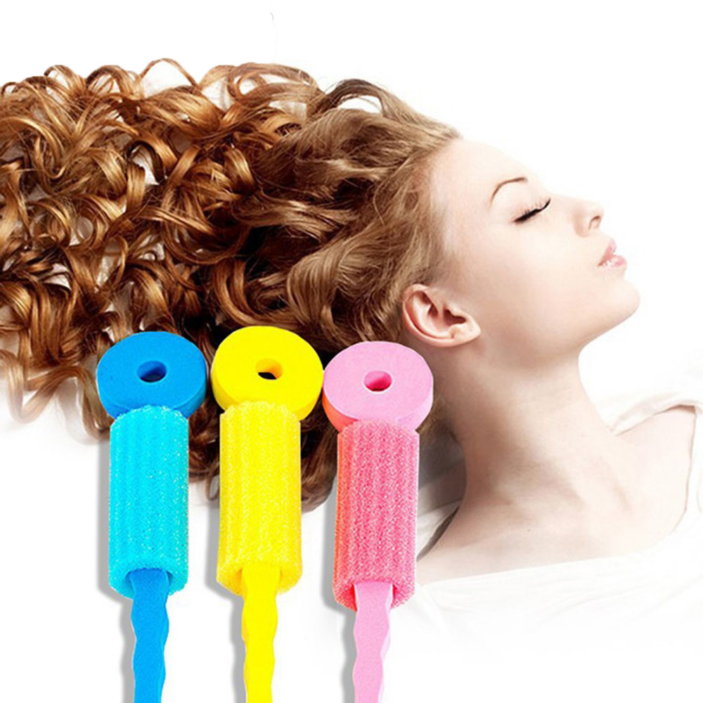2016 Newly arrive high quality 3pcs/set fashion Sponge hair curlers Hair Styling Hair Roll Rollers for Women Sponge hair stick(China (Mainland))