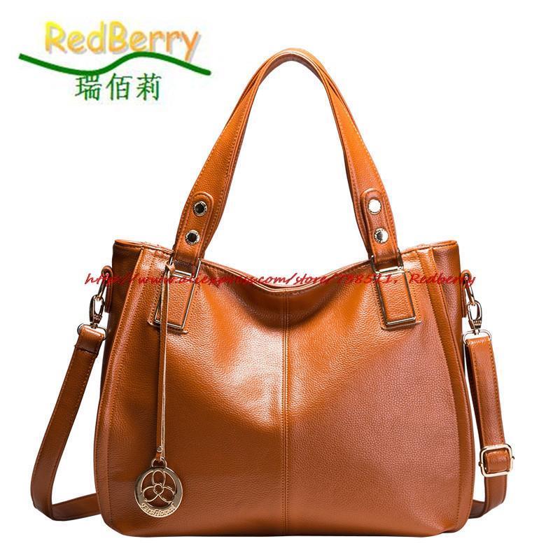 2015 Women Genuine Leather Bag Fashion Cowhide Leather Bolsas New Leather Handbag Elegant Shoulder Bags Women Messenger Bags<br><br>Aliexpress