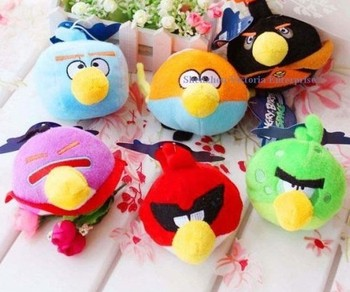 20PCS Wholesale 5Colors IN ORDER Plush Stuffed TOY Soft Figure DOLL Sucker Birds CAR ROOM Pendant TOY Wedding Bouquet Gift TOY