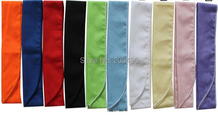 Super Cooler Neck Tie Coolers , Great for staying cool on a hot day - pure color , Free shipping , 10pcs/lot(China (Mainland))