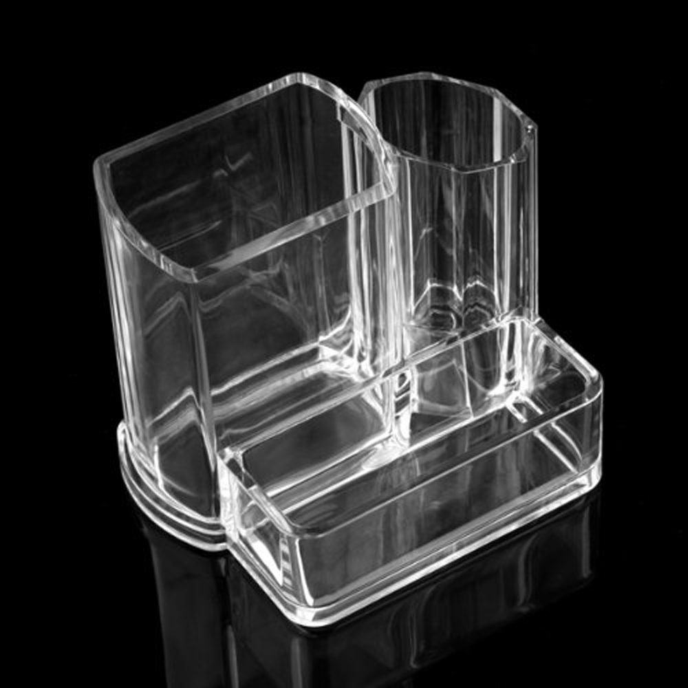 USA Delievry! Clear Acrylic Desk Cosmetic Lipstick Brush Holder Makeup Storage Case(China (Mainland))