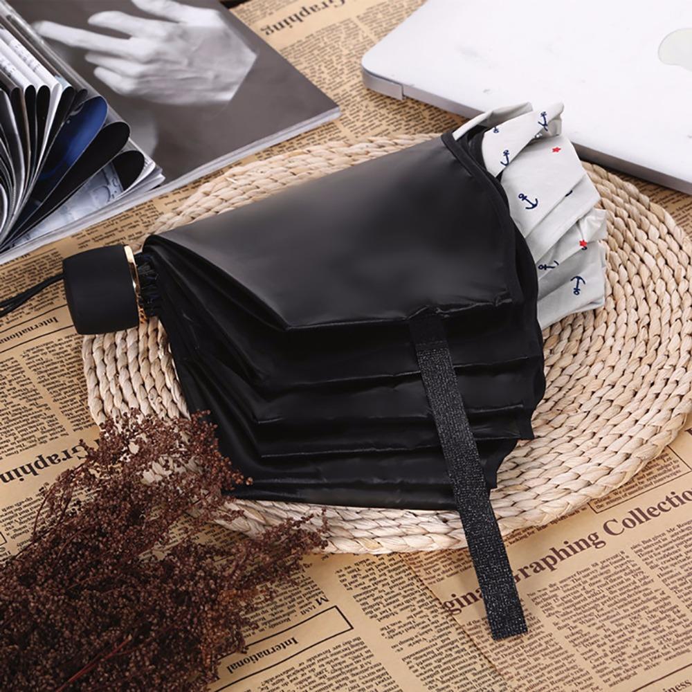 2016ladies Women Rain sun protection Compact Three Folding Umbrellas Anti-UV 2015 Fashion Black coating strong frame umbrellas(China (Mainland))