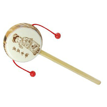SAF Hot Wooden rattle sided hand drum toys for children 20 * 6cm(China (Mainland))