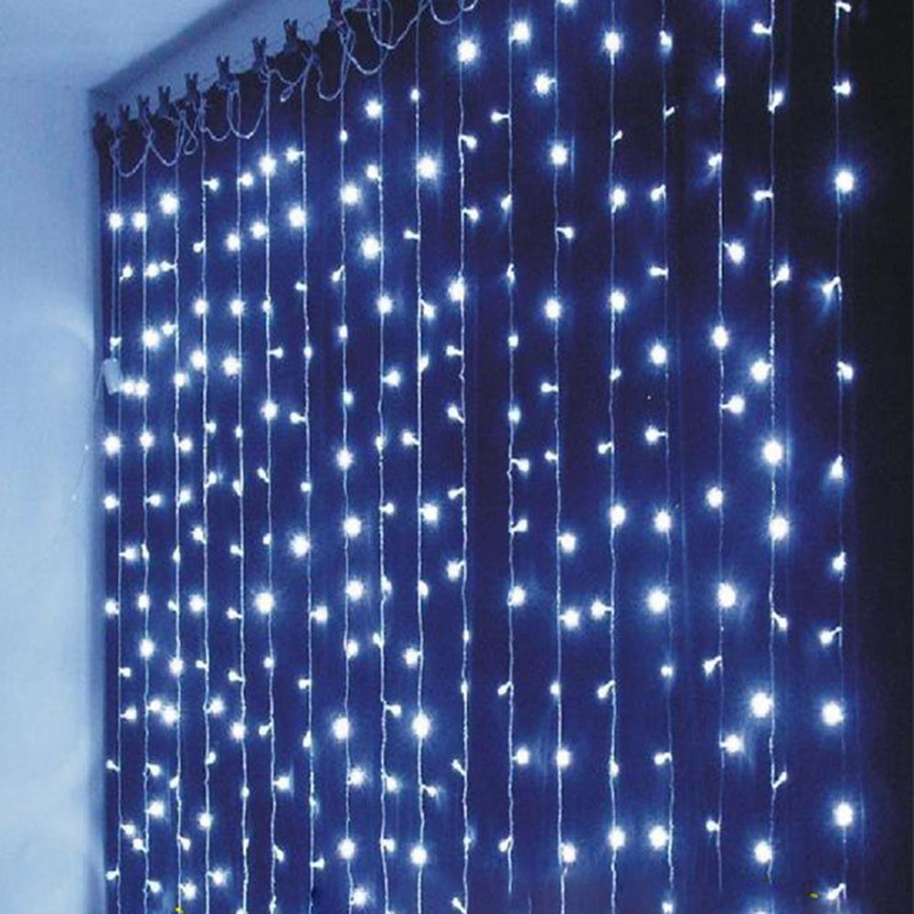220V 6M x 3M 750 LED String Lights Curtain Lights for Home Decoration and Christmas Party (EURO plug) <br><br>Aliexpress
