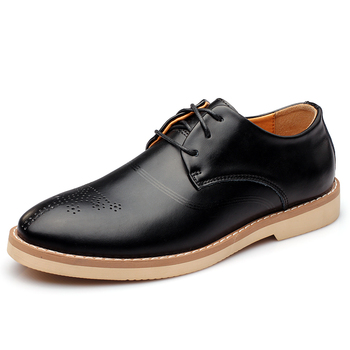 Classic Solid Color Men Flats Fashion Shoes Men Leather Shoe For Men Non Slip Rubber Outsole Lace Up Mens Shoes 44, 9917