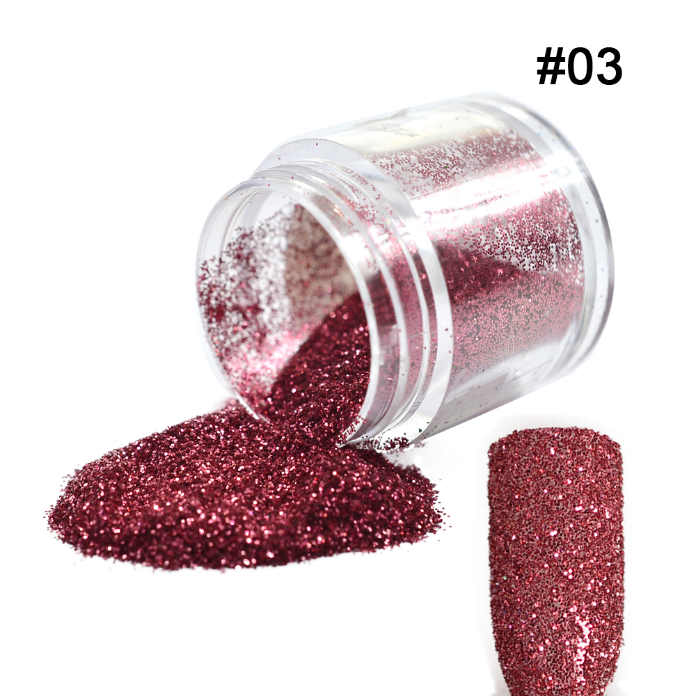 Tracy Simple Nail 1bottle 10g Sparkling Red Colors Sequins Dust Tips Gem Nail Art Glitter Powder Builder Polish Tools #03(China (Mainland))