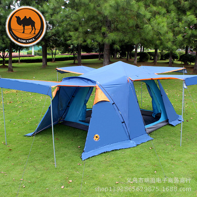 Camel CS090 with snow dress 3-4 people double layer outdoor tents camping tent(China (Mainland))