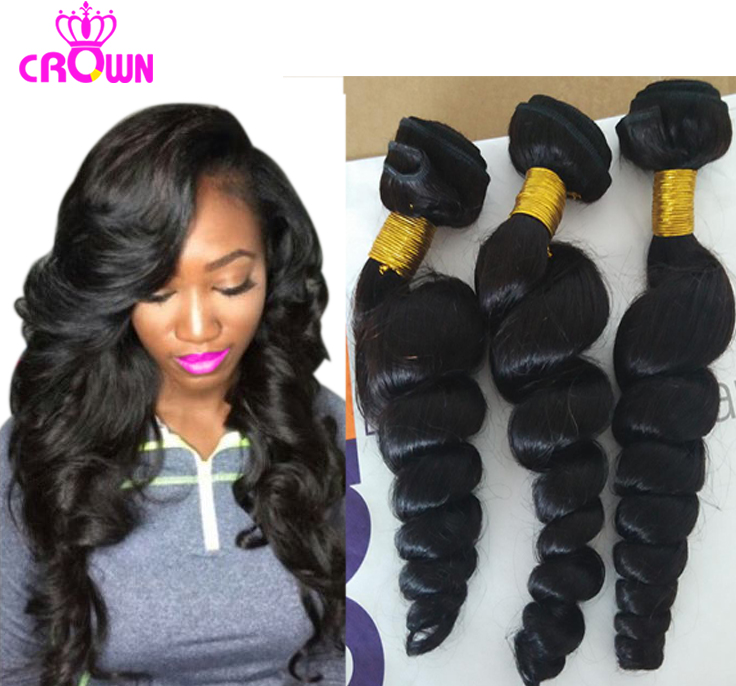 Peruvian Virgin Hair With Closure Peruvian Loose Wave With Closure Hair 3/ 4 Bundles With Closure Bundles Virgin Peruvian Hair