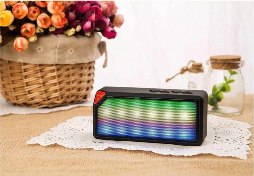 10pcs/lot New Portable Jambox Style X3 Bluetooth mini speaker with Mic wireless bluetooth speaker for iPhone iPad Samsung(China (Mainland))
