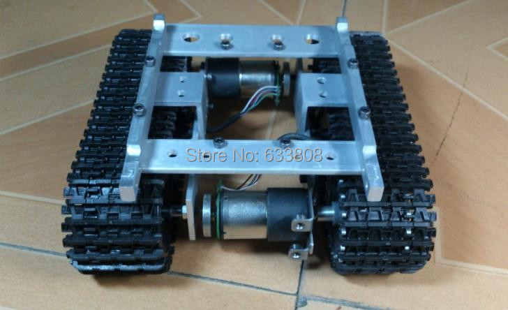 Tank Car Chassis Crawler Intelligent Diy Robot Electronic Toy,development kit Tractor toy(China (Mainland))