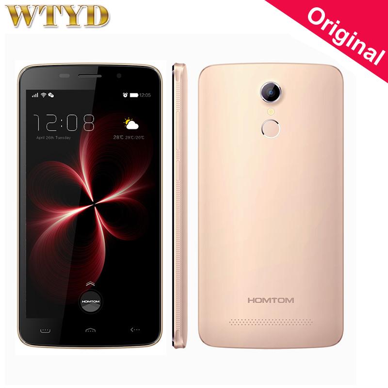 Original Homtom HT17 Pro 5.5'' 4G LTE Smartphone MTK6737 Quad Core Android 6.0 Smartphone 2GB+16GB Fingerprint Fast Charge