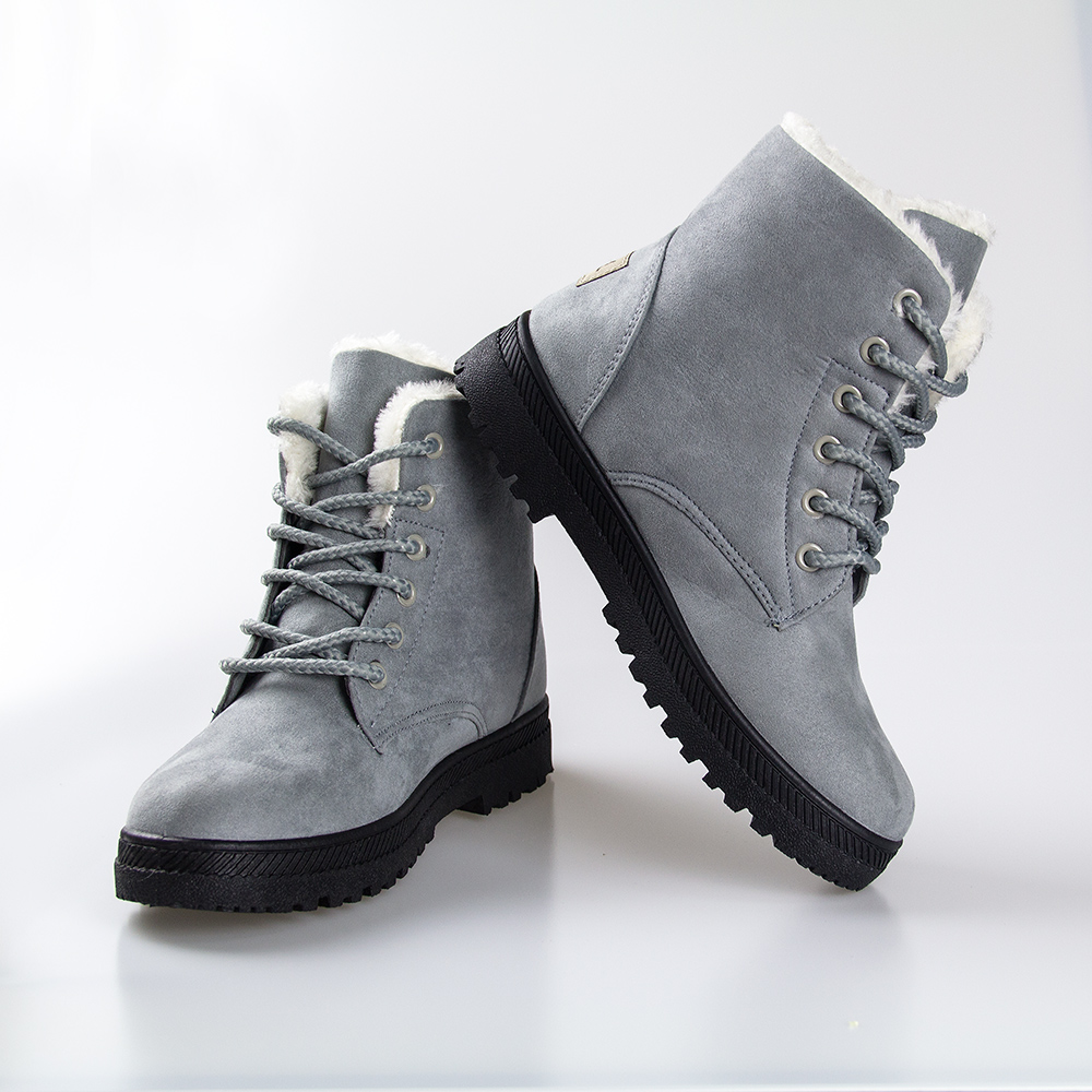 Fashion ankle boots for women shoes 2017 warm snow boots