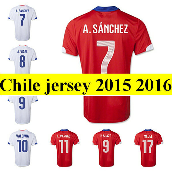 Thai Quality chile soccer jersey 2015 Thail best Quality chile jerseys 15/16 Soccer shirt 2016 uniforms camisas male(China (Mainland))