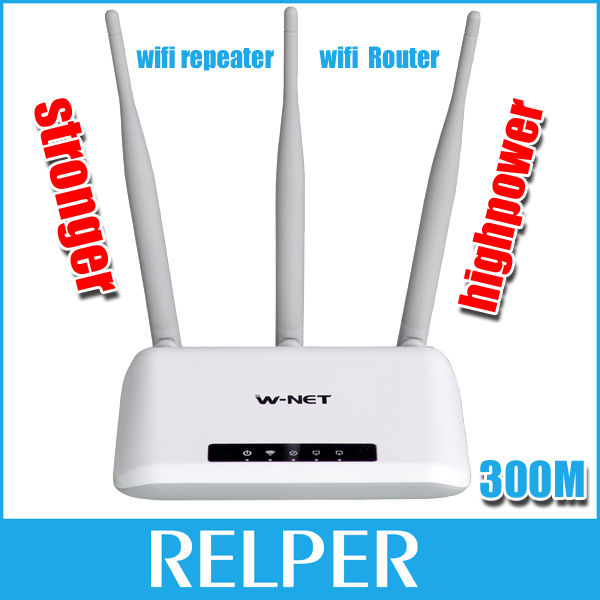 English Version high power wireless router wifi repeater 300mbps WDS booster extender home network with 3 antennas 5dbi router(China (Mainland))