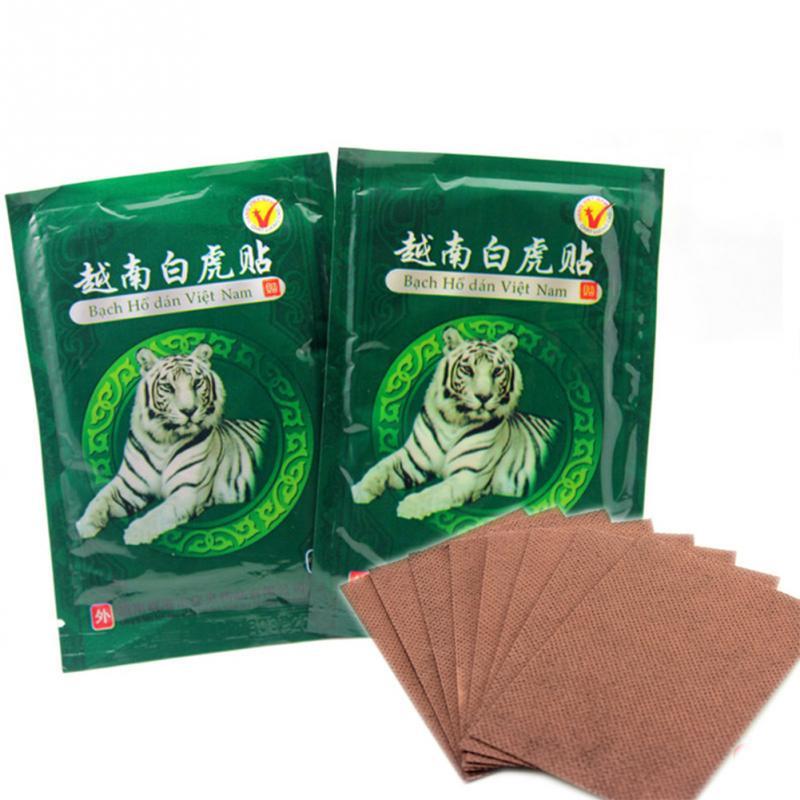 16pcs/2 bags White Tiger Balm Vietnam Muscle Neck Body Massager Massage Relaxation Capsicum Rheumatism Plaster Pain Patch(China (Mainland))
