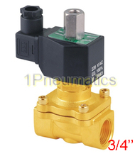 "Free Shipping 3/4′"" Normally Open Brass Electric Solenoid Valve 2W200-20-NO DC12V,DC24V,AC110V or AC220V"