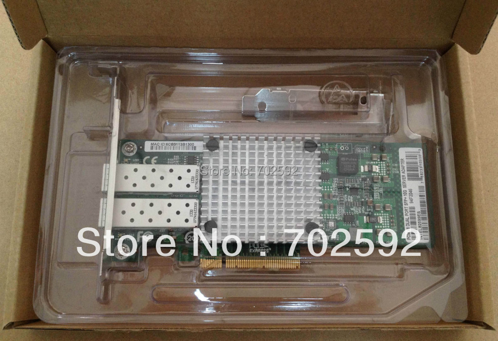 original Dual-port Gigabit fiber network card for INTEL X520 82599ES/E