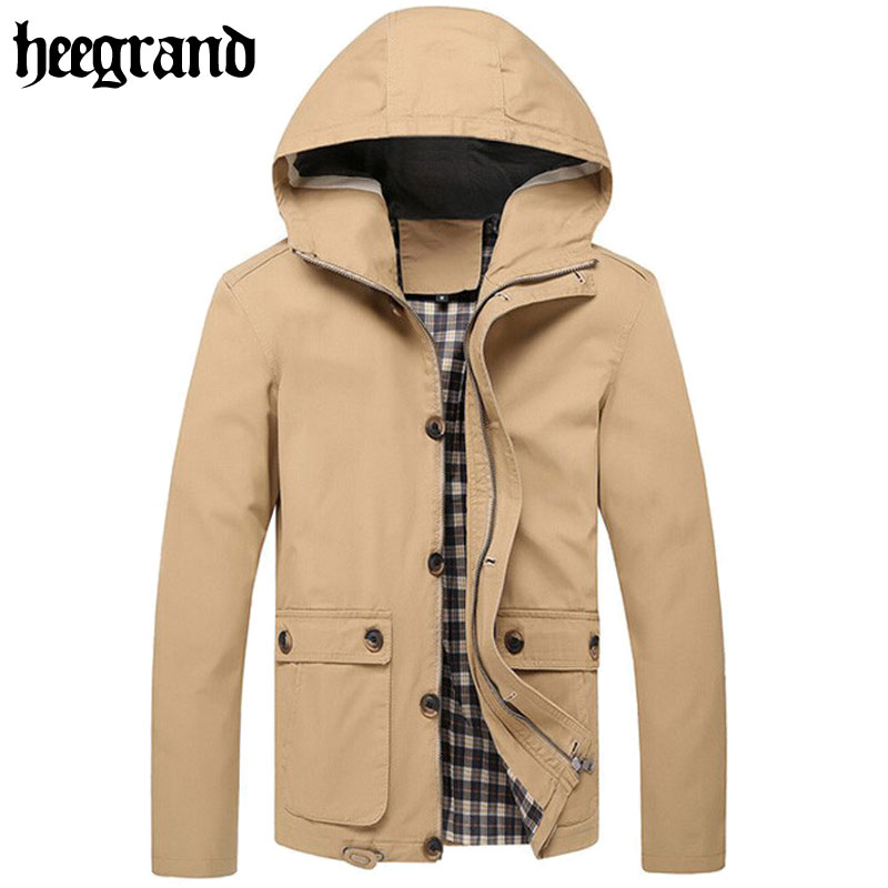 2016 Men Hooded Jackets Manteau Homme Autumn Spring Outdoor Coats Man Classical Solid Jakcet MWJ1216(China (Mainland))
