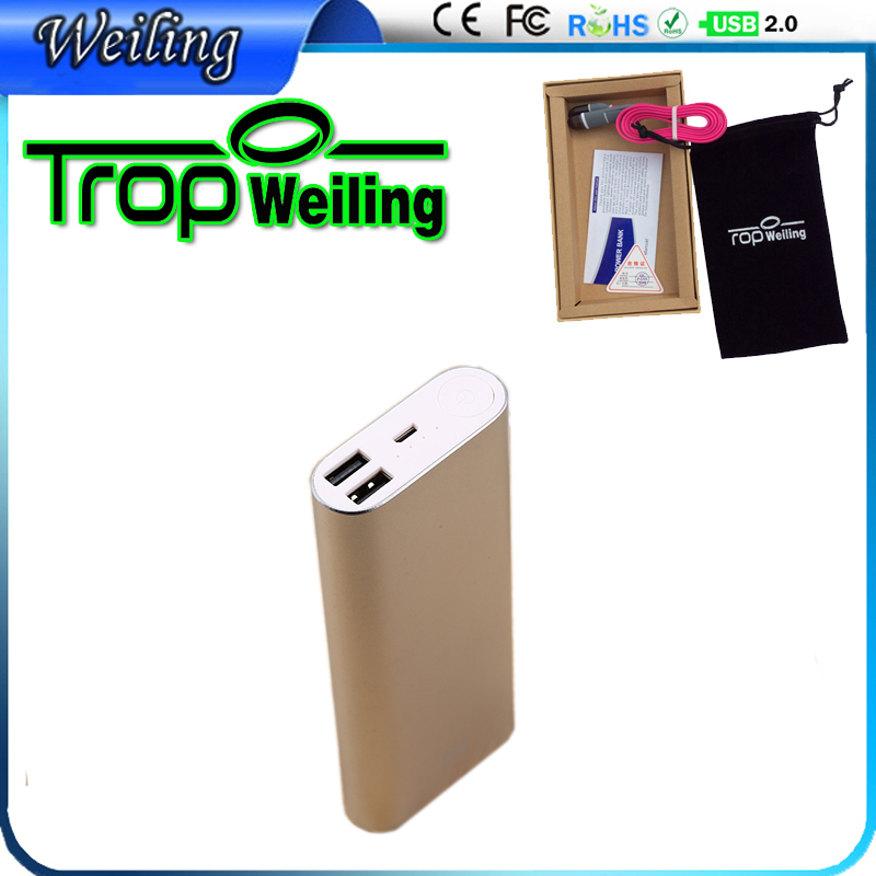 Weiling OEM mobile charger 16000mah powerbank xiaomi powerbank 18650 for iphone 6 s / all phones xiaomi 16000