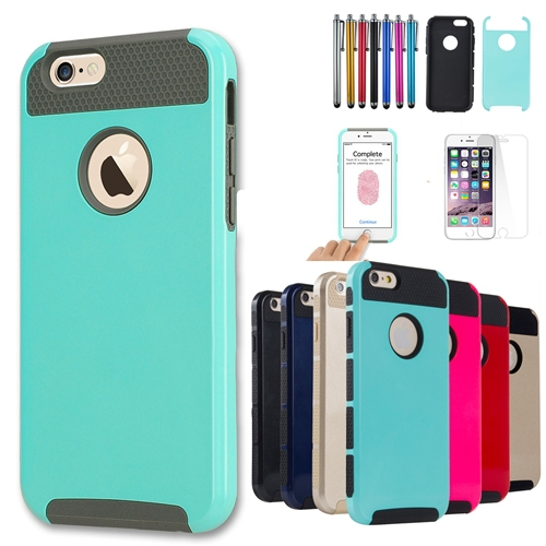 Shockproof Dual Layer TPU Hybrid Rugged Armor PC Slim Skin Hard Back Case Cover For