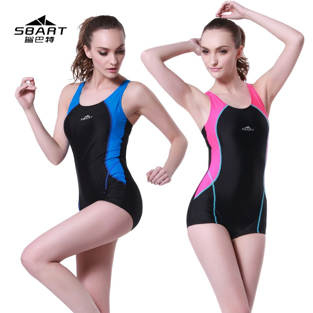 Ladies' Outdoor & Indoor Sporty Swimsuit bust pad Professional One Piece woman Training Swimwear bathing sui - Beijing Water Sports Co.,Ltd. store