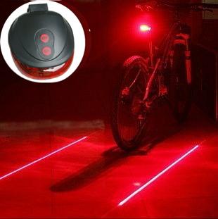 (5LED+2Laser) 7 flash mode Cycling Safety Bicycle Light Rear Lamp, waterproof Bike Laser Tail Light Warning Lamp Flashing(China (Mainland))