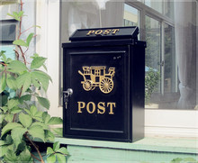 Free shipping European-style villa mail outdoor wall waterproof wall mailbox mailboxes many Irish-style retro(China (Mainland))