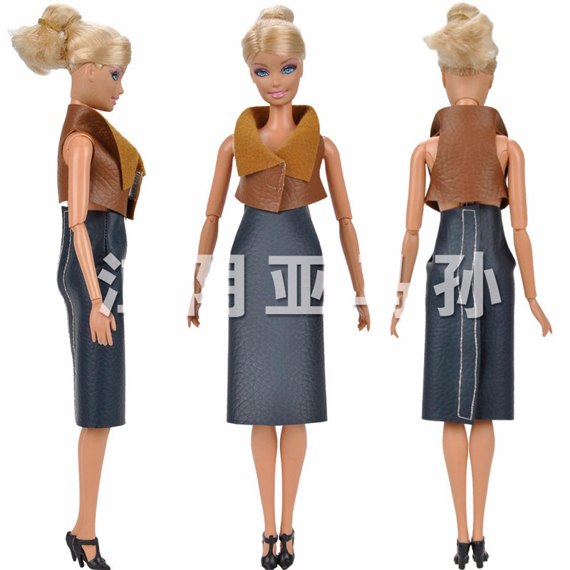 Excessive High quality Handmade Leather-based Enterprise Apparel Garments for Barbie Costume New Reward Toy for Lady