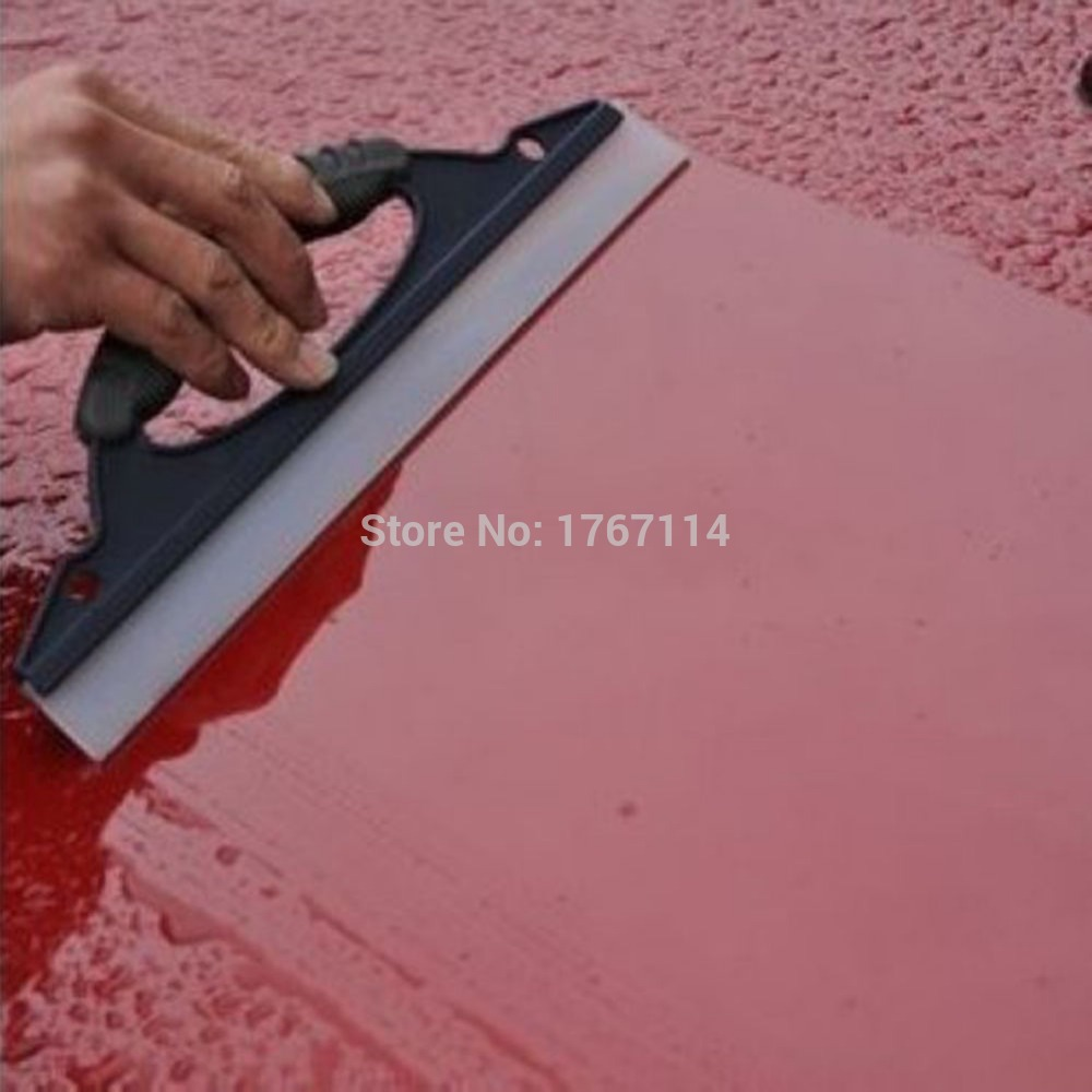 1 pcs High Quality Blue Car Soft Silicone Mobil Cuci Cleaner Wiper Squeegee Shower Kit Car Care Tool(China (Mainland))