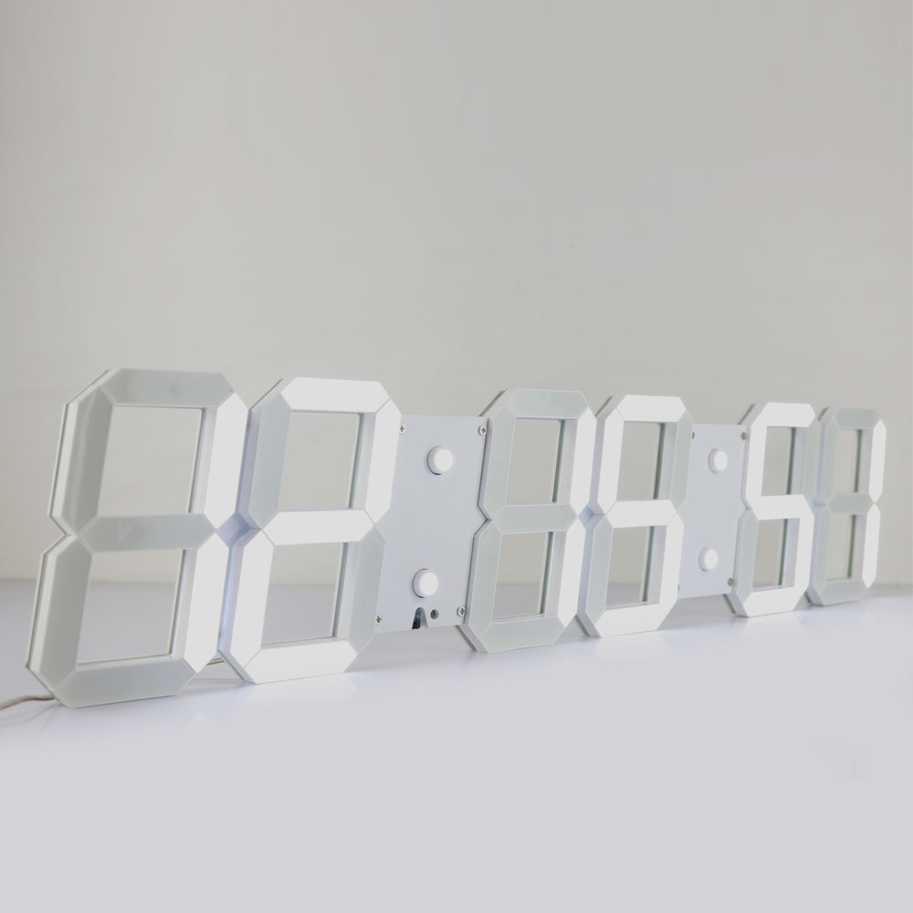 CH Kosda!Large Digital Wall Clock Modern Design Show Date Temperature Countdown Alarms Wall Watch 66*2*15 CM DHL Shipping(China (Mainland))