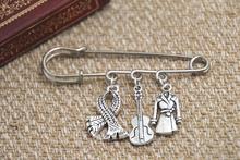 12pcs Sherlock inspired Sherlock Holmes themed charm kilt pin brooch (38mm)