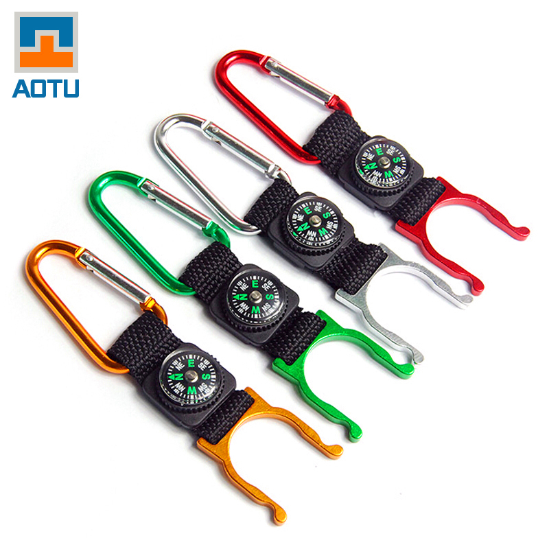New 2016 Mini Compass Buckle Backpack Bottle For Water Compas Tool Navigation Colorful Aluminum Bussola Supervivencia Equipment(China (Mainland))