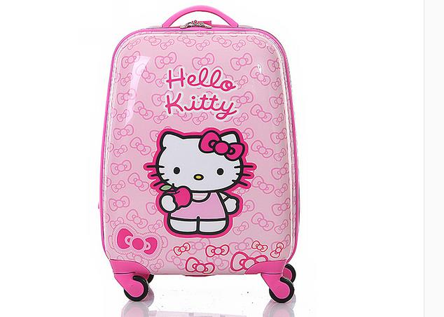 16 18 Inch pink hello kitty suitcase for gils and kids luggage travel Suitcase(China (Mainland))