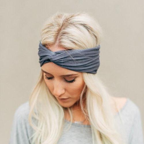 1PC Fashion Women Knotted Hairband Cotton Yoga Elastic Turban Twisted Cross Headband Wrap Hair Band Accessories(China (Mainland))