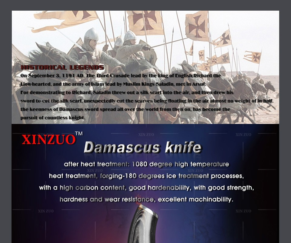 "Buy XINZUO HIGH QUALITY 7"" inch Japanese VG10 Damascus steel kitchen knives chef knives santoku knife with wood handle free shipping cheap"