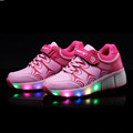 2017 New neon light up led luminous shoes girls color glowing casual fashion with new simulation