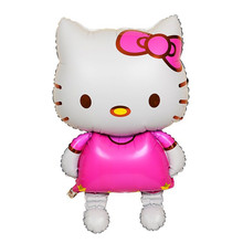 Can choose Two size  Hello Kitty Globos Cat Foil Balloons Cartoon Birthday Decoration Wedding Party Inflatable Balloons (China (Mainland))