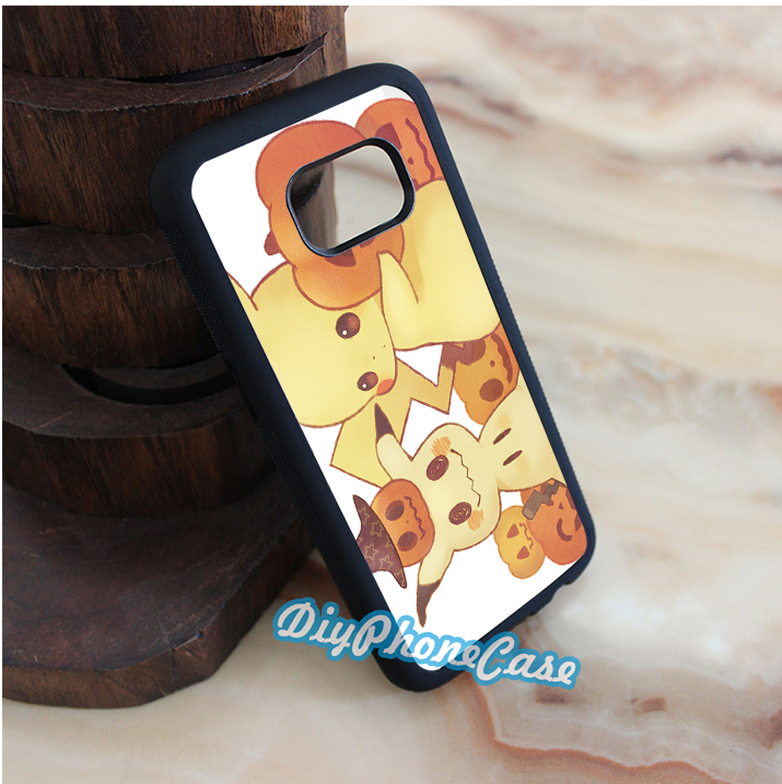 Pokemon Mimikyu and Pikachu cell phone case cover for Samsung Galaxy S3 S4 S5 s6 s6 edge s7 s7 edge note 3 note 4 note 5 #kn614(China (Mainland))