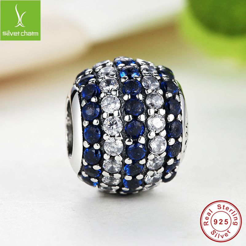 925 Sterling Silver Nautical Pave Lights Blue Crystal Charm Fit Original Pandora Bracelet Neckalce Authentic Style Jewelry Gift<br><br>Aliexpress