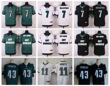 Top A Best quality Stitiched,Philadelphia Eagles,Carson Wentz,Darren Sproles,Sam Bradford,customizable(China (Mainland))