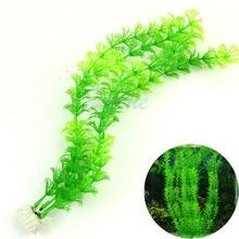 "A96 Free Shipping 5pcs/lot 13"" Stunning Green Artificial Grass Plastic Fish Tank Water Plant Aquarium Decor(China (Mainland))"