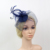 Fashion Bride Gauze Headdress Hair Accessories Wedding Banquet Party Hat Small Black Feather Headdress Hairpin Headwear