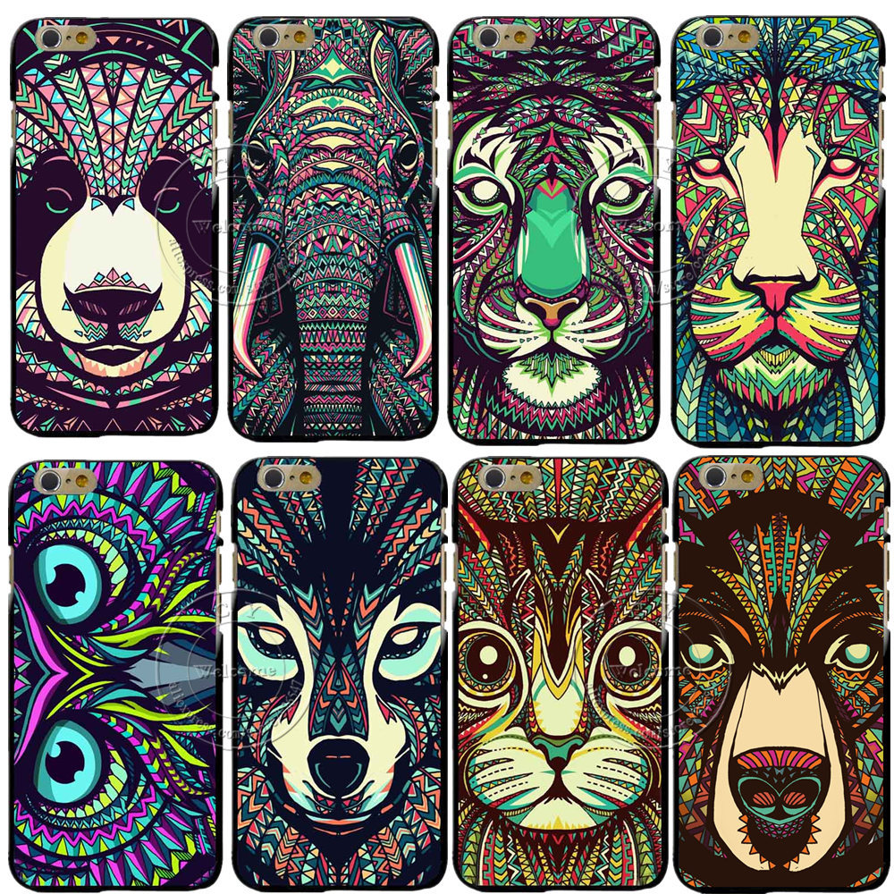 New Super Hot Fashion Animal Designs Shell Hard Back Case Cover For Apple iPhone 6 6S 6 Plus 6S Plus Free Shipping(China (Mainland))