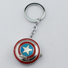 Fashion Jewelry Wholesale a lot Captain America Pocket Watch Pendant Keychain