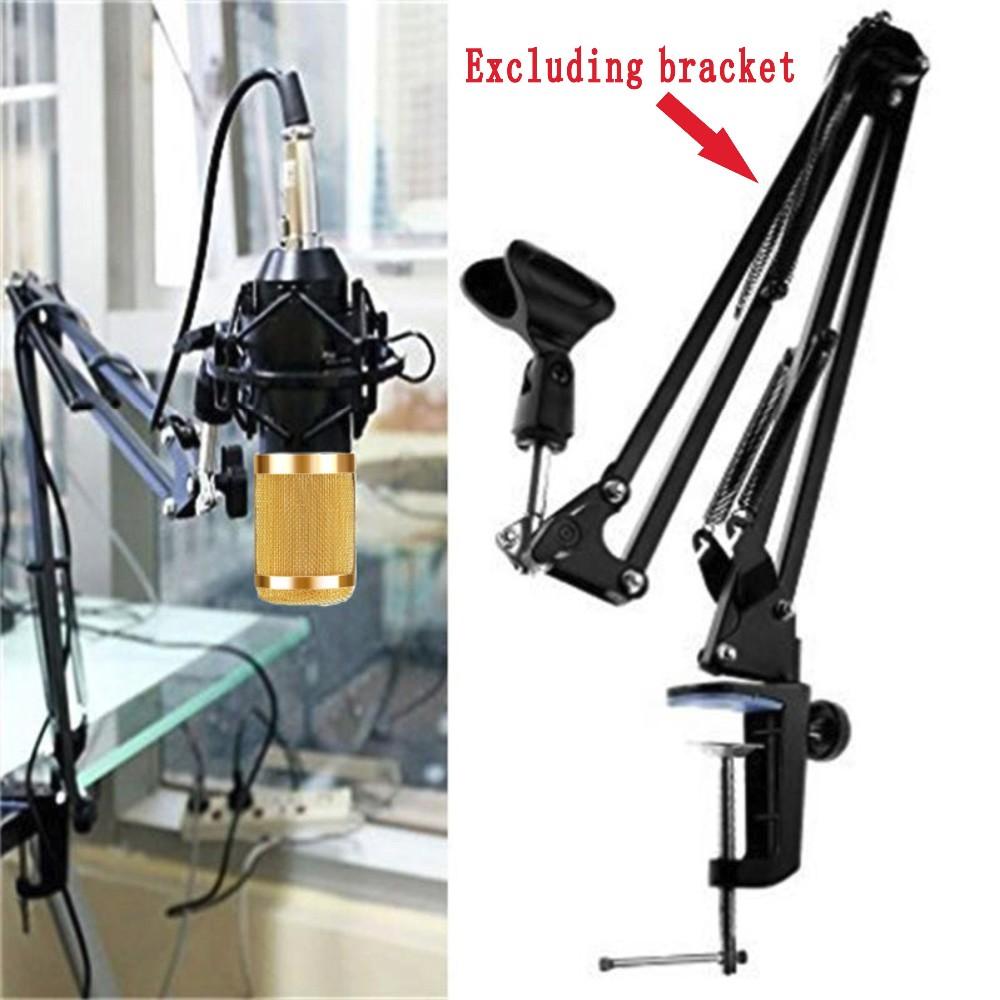 Professional Studio Broadcasting BM-800 Condenser Sound Studio Recording Broadcasting Microphone + Shock Mount Holder black