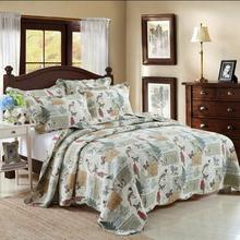 Adult American flower & bird quilt cover Quilt Set Add size 3Pcs/set embroidery cotton Double summer Set use room Dec FG204(China (Mainland))