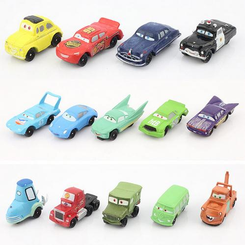 Pixar Cars Mini action figures PVC model height dolls toys classic toys 4 to 7 cm 14 unids / set free shipping Lightning McQueen(China (Mainland))