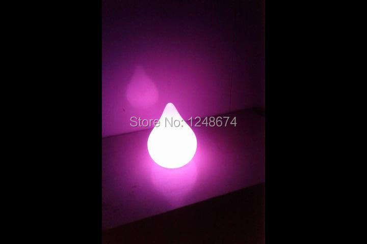 Free Shipping Colorful LED Dew Break-resistant, rechargeable LED glowing lighted LED Peach,LED Swimming Pool Lamp remote control(China (Mainland))