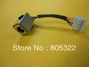 Free Shipping DC Jack Power Connector socket wire Harness For HP Mini 210 series 589682-001(China (Mainland))